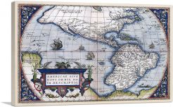 Map of America - New World 1570