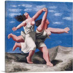 Two Women Running On The Beach 1922