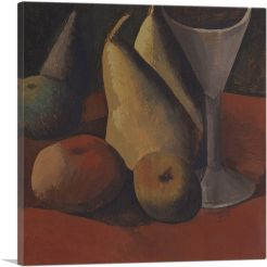 Still Life with Fruit and Glass 1908