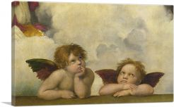 Sistine Madonna - Two Angels Detail - Rectangular 1513