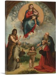Madonna of Foligno 1507-1-Panel-40x26x1.5 Thick