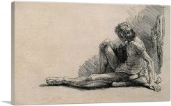 Nude Man Seated on the Ground with One Leg Extended 1646