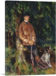Alfred Berard And His Dog 1881