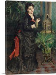 Woman With Parakeet 1871