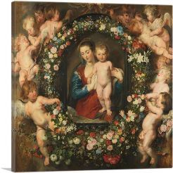 Madonna in Floral Wreath 1620