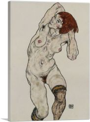Female Nude with Black Stockings 1917