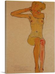 Seated Female Nude with Raised Right Arm 1910
