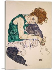 Seated Woman With Bent Knee 1917