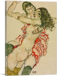 Two Women Embracing 1915-1-Panel-40x26x1.5 Thick