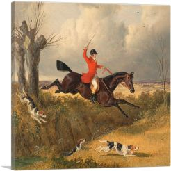Foxhunting Clearing a Ditch