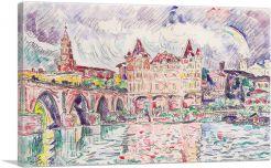 Blick auf Montauban bei Regen 1922