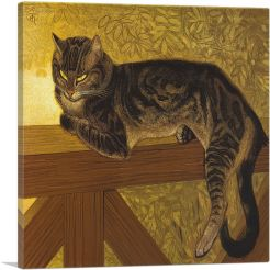 The Summer - Cat on a Balustrade 1909