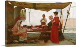 A Grecian Flower Market 1880