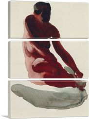 Nude Series 1917-3-Panels-90x60x1.5 Thick