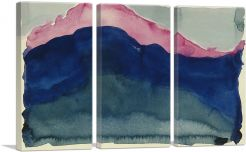 Pink and Blue Mountain 1916-3-Panels-90x60x1.5 Thick