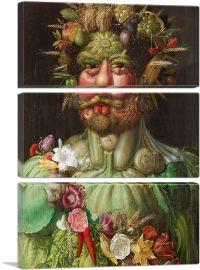 Rudolf II of Habsburg as Vertumnus 1590-3-Panels-90x60x1.5 Thick