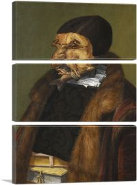 The Lawyer - Possibly Ulrich Zasius 1566-3-Panels-90x60x1.5 Thick