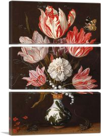 Tulips with Butterfly-3-Panels-90x60x1.5 Thick