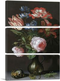 Flowers with Grasshopper 1630-3-Panels-90x60x1.5 Thick