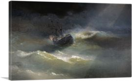 Ship During a Sea Storm 1892