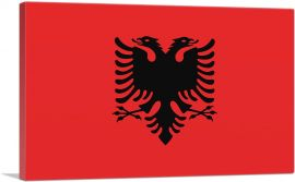 Flag of Albania Country in the Balkans Rectangle