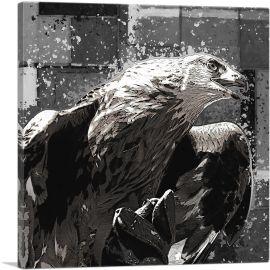 Golden Eagle of Albania Black White
