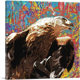 Golden Eagle of Albania Colorful Graffiti