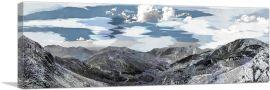 Mountain Range in Albania Blue Sky