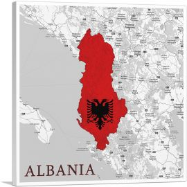 Albania Country in the Balkans on World Map
