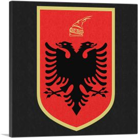 Albanian Country in the Balkans Coat of Arms