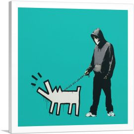 Choose Your Weapon Keith Haring Dog - Teal