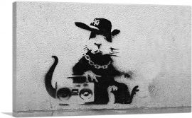 Old School Rat with Boombox