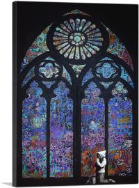 Graffiti Stained Glass - Blue