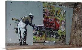 Graffiti Wallpaper Hanging