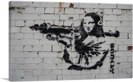 Mona Lisa With Rocket Launcher Bazooka