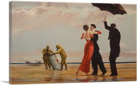 Dancing Butler on Toxic Beach Crude Oil