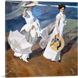 Seaside Stroll - Women Walking on the Beach 1909