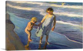 Valencia - Two Children on a Beach