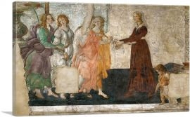 A Young Woman Receives Gifts from Venus and Three Graces 1486