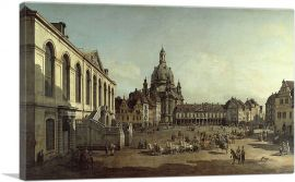 The Neumarkt in Dresden Seen from the Juedenhofe 1749