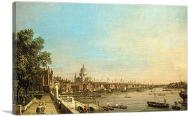 The Thames from the Terrace of Somerset House Looking Towards St. Paul's 1750