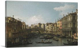 View of the Grand Canal Rialto Bridge