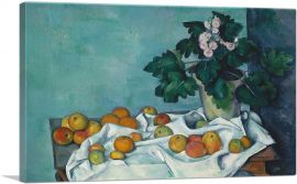 Still Life with Apples and a Pot of Primroses 1890