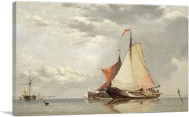 Dutch Fishing Craft Off Fort Lillo