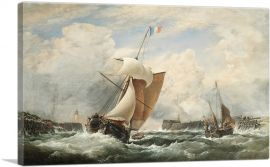 French Sloop Entering the Harbour of Treport
