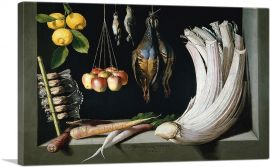 Still Life with Game Fowl Vegetables and Fruits
