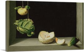 Still Life With Quince, Cabbage, Melon and Cucumber 1602