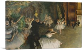 The Rehearsal of the Ballet Onstage 1874