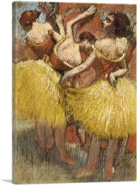Three Dancers in Yellow