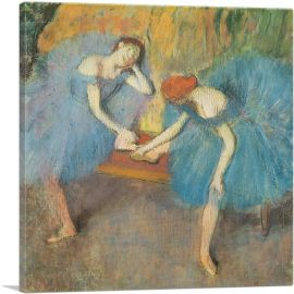 Two Dancers at Rest in Blue 1898